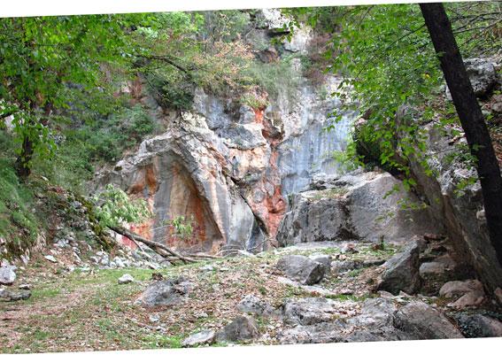 PAtricolare di una cava antica