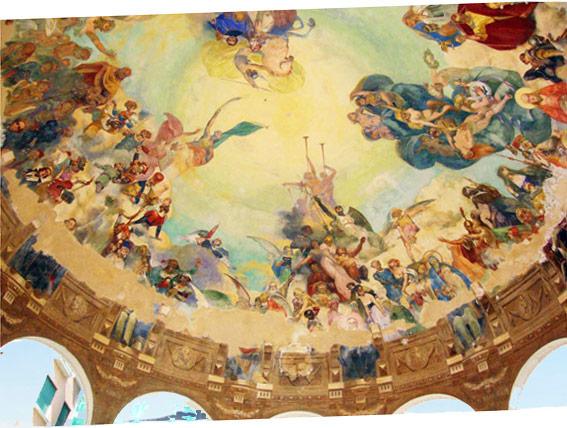 Il chiosco dei musicisti. Pittura sulla cupola.