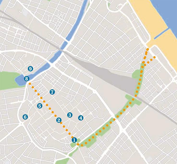 Mappa del centro di Rimini