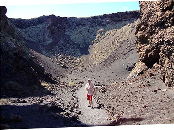 All'interno del vulcano El Cuervo