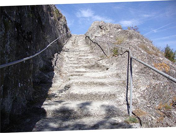 Ovech, forteresse bizantine. Escalier.