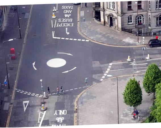 Incrocio ad Edimburgo