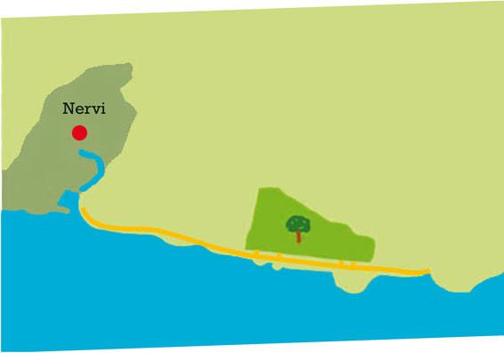 Karte der Nervi Promenade