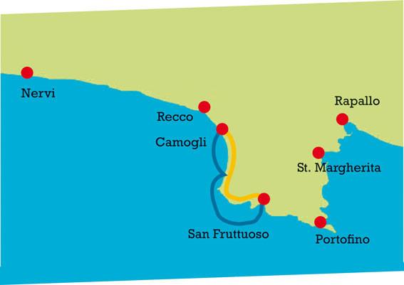 Map for San Fruttuoso