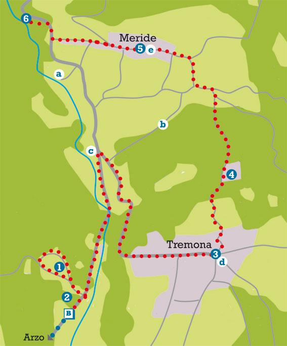 Mappa del nostro giro