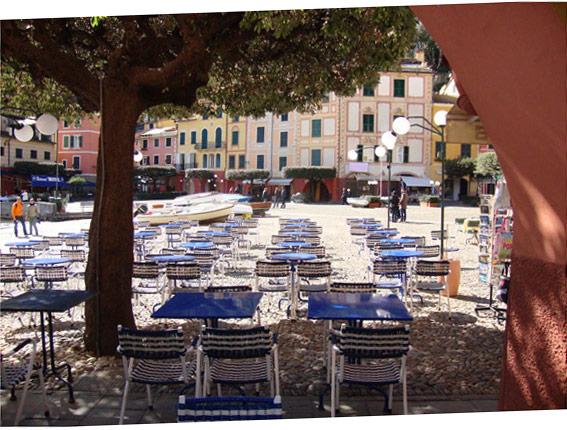 La piazza di Portofino