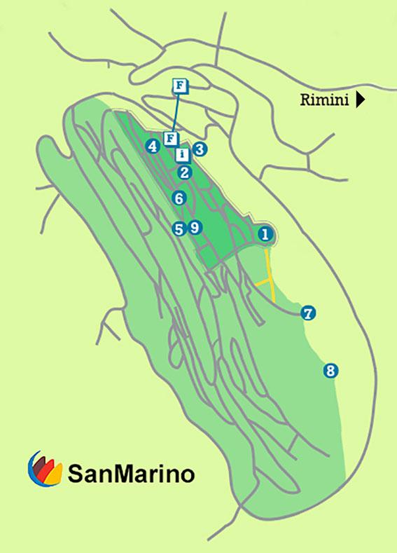 San Marin mappa