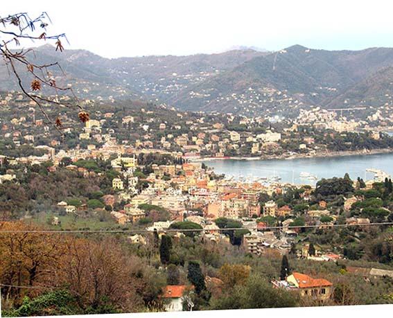 Santa Margherita Ligure von oben