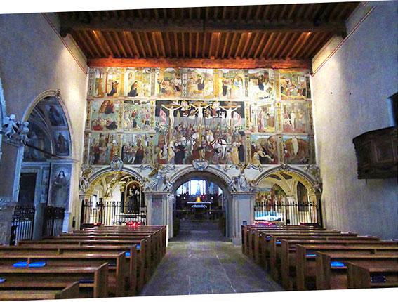 Interno chiesa Santa Maria delle Grazie