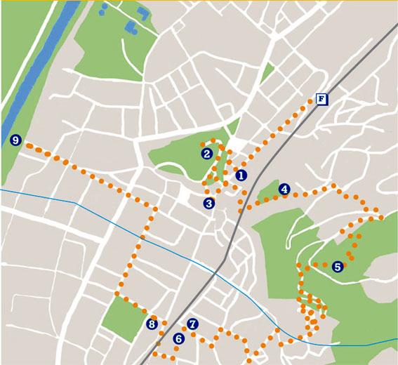 Mappa del giro a bellinzona