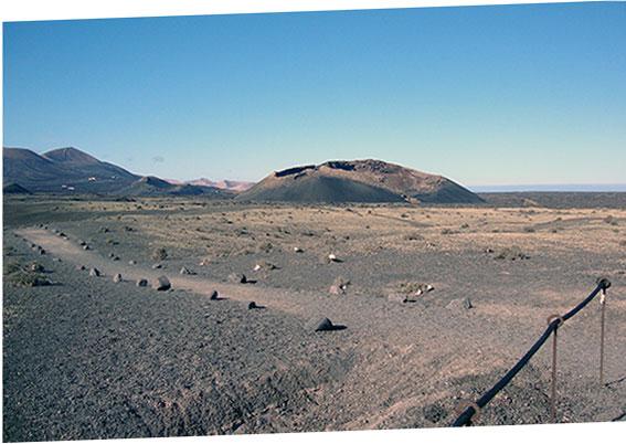 Lanzarote, volcan «El Cuervo»