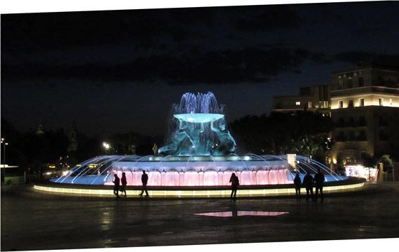 """The impressive """"Triton Fountain""""."""