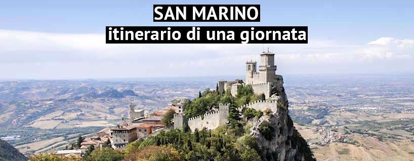 Veduta del picco di SAn Marino