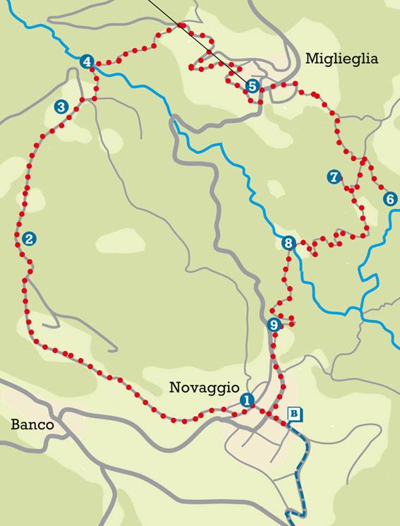 Mappa di Novaggio e dintorni