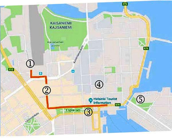 Karte von Helsinki