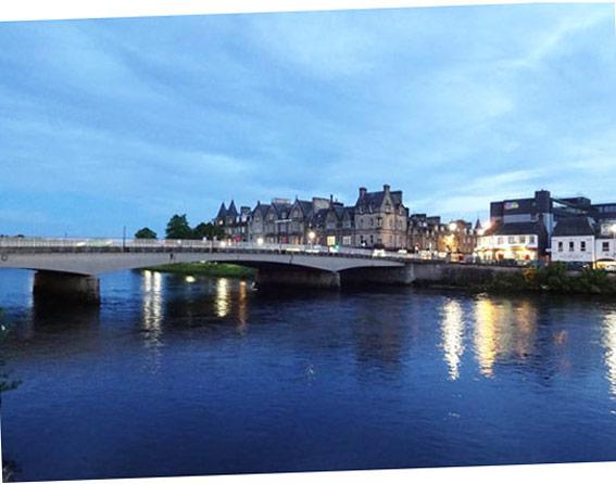 Inverness die Hauptstadt der Highlands.