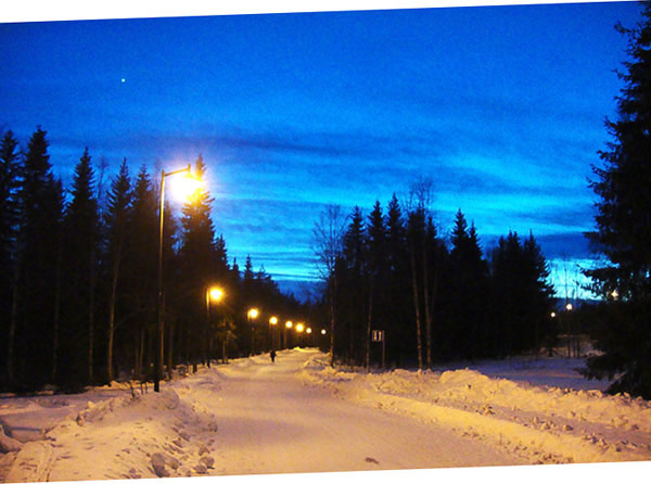 Une rue de Rovaniemi