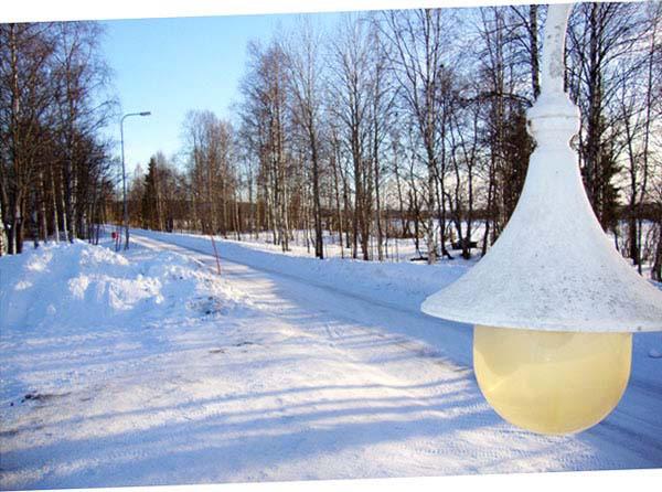 eine Straße in Rovaniemi