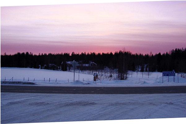 Rovaniemi am Abend
