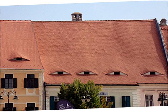 Die Dächer von Sibiu