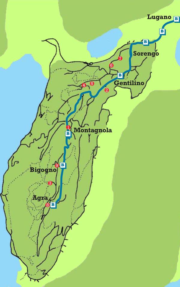 Collina d'Oro mappa